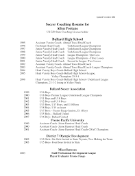 Coach Resume Example by High Soccer Coach Resume Coaching How To Become A With No