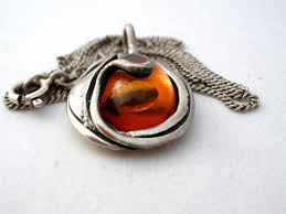 amber necklace pendant images Vintage amber pendant necklace sterling silver the jewelry JPG
