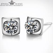 moissanite earrings popularne moissanite earrings kupuj tanie moissanite earrings