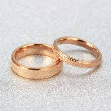 golden couple rings images Fashion matte rose gold ring jewelry tail ring finger korean jpg