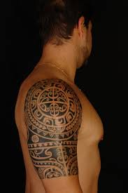 samoan shoulder tattoo designs polynesiansamoan half sleeve