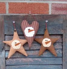 primitive ornament pattern homespun and snowman ornies