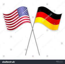 German American Flag American German Crossed Flags United States Stock Vector 564436246