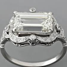 emerald cut diamond engagement ring