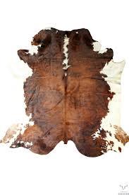 pouf en peau de vache peau de vache normande petit modèle