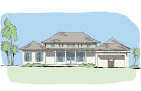 House Plans Coastal 1 Story Plans With Courtyard Villa Collection U2014 Flatfish Island