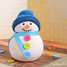 no sew sock snowman craft easy peasy and