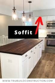 can cabinets be same color as walls should you paint your soffits ceiling color or wall color