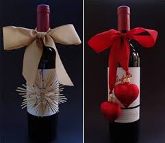 wine bottle bows wrapped in it gift items wine bottles