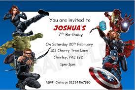 avengers birthday invitations amazing invitations cards avenger