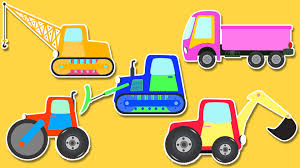 coloring book construction vehicles colors for kids youtube