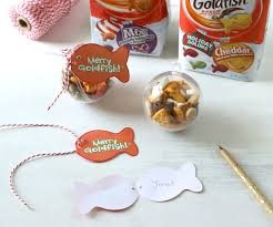 goldfish cracker ornaments