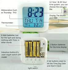 Bling Alarm Clock Amazon Com Boyan New Inspirational Word Rainbow Led Alarm Clock