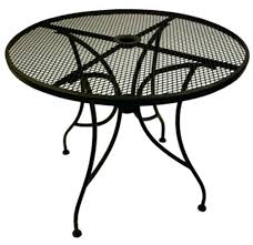patio table with umbrella hole round patio table wrought iron round patio table vintage wrought