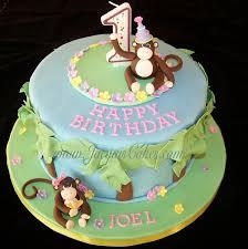 1st birthday cake boy monkey image inspiration of cake and