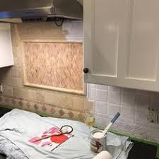 how to paint kitchen tile backsplash painted tile backsplash cover those tiles remodeling