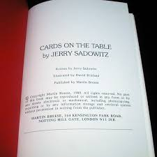 cards on the table cards on the table by jerry sadowitz martin s magic collection
