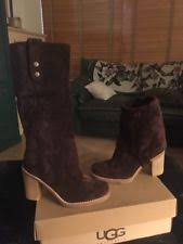 ugg womens josie heeled boots stout ugg australia suede pull on knee high boots for ebay