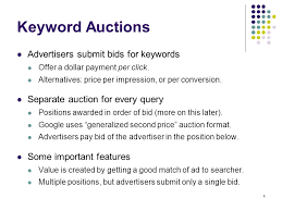 pay to bid auction sponsored search auctions 1 2 traffic estimator ppt