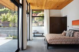 glass door wall glass wall house by klopf architecture