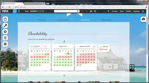 availability calendar on wix youtube
