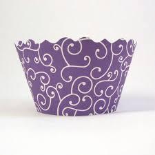 mini lavender purple swirl cupcake wrappers cupcake couture