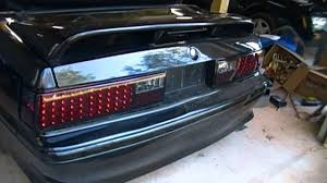 93 mustang lx tail lights led tail light install in a ford foxbody mustang youtube