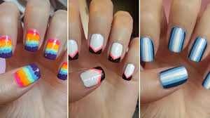stripe nail design gallery nail art designs