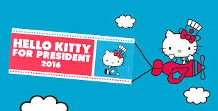 free kitty president bumper sticker sanrio