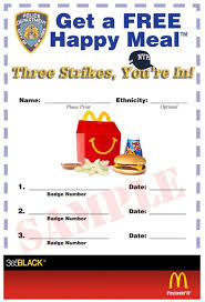 Nypd Business Cards 365black Here U0027s A Free Happy Meal Voucher Good After 3 Nypd Cops