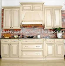 kitchen vintage white wooden kitchen cabinet with brick walls