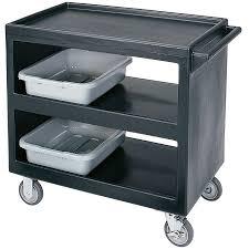 cambro bc235110 black three shelf service cart 37 1 4