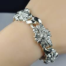 hearts bracelet images 4 999 retail chrome hearts designer 925 silver 3 00 ct t w JPG