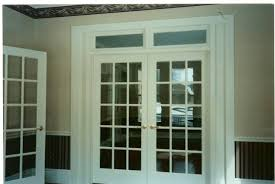 French Doors With Transom - champlain stone office interior construction for the glens falls