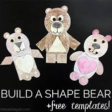 build a shape bear paper craft to be a kid again