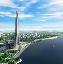 lakhta center becomes europe u0027s tallest building daily mail online