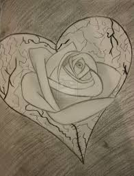 broken heart pencil drawing drawing sketch picture