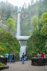 Multnomah Falls Map Troutdale Oregon May 5 Multnomah Falls With Tourists On May