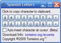 spanish letters a tiny program to generate accented spanish