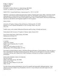 Federal Job Resume Surprising Resume Samples Uva Career Center Template For Student