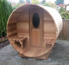 horizontal cedar barrel sauna2 sauna pinterest outdoor sauna