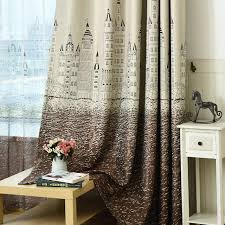 Blackout Curtains For Girls Room Aliexpress Com Buy Cartoon Castle Window Curtains For Children