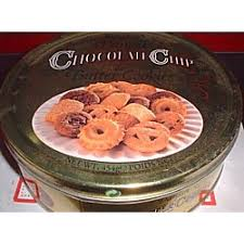 chocolate chip and butter cookies 1 lbs tin