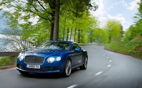 bentley coupe blue bentley continental gt car blue road day coupe front hood hd wallpaper