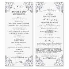 wedding ceremony program templates wedding ceremony program template template ideas
