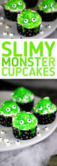 slimy monster cupcakes cute and spooky comes together with these
