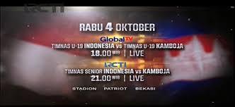 jadwal siaran langsung timnas senior indonesia vs kamboja dan