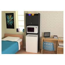 Electronics Storage Cabinet Clarkson Mini Refrigerator Storage Cabinet Black Ameriwood