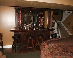 lower level pub style mahogany bar
