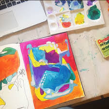 how to get started with acrylic abstract painting u2014 made vibrant